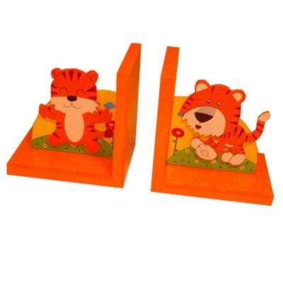 Boekensteun tijger oranje