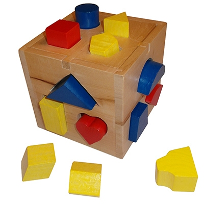 Blokkenstoof vierkant blank