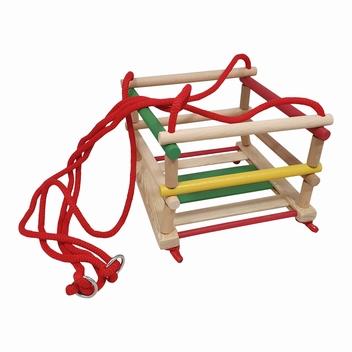Schommel hek multicolour met rood touw