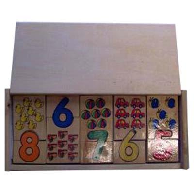 Kist tellen puzzel met klepdeksel
