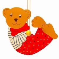 Draai beer klein rode broek