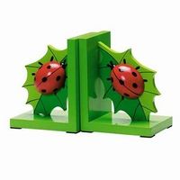 Boekensteun lieveheersbeest groen