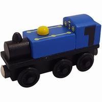 Stoom locomotief blauw nr