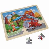 Legpuzzel boerderij tractor 48 stukjes
