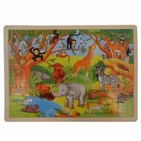 Legpuzzel wilde dieren 48 stukjes