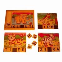 Puzzel magneet wilde dieren