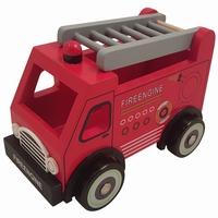 Brandweerauto met grijze ladder (gv)