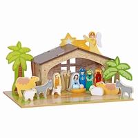 Kerststal met grondplaat; Mentari 3543
