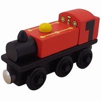 Stoom locomotief rood nr