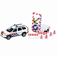 Die-cast Politieauto met Verrijdbare Pijl; Pull Back 51.0633