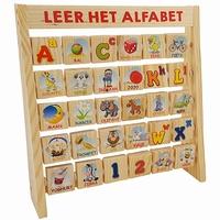 Leer het alfabet aan rek; dubbelzijdige blokjes