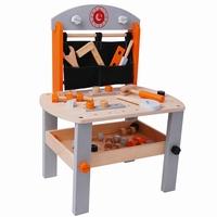 Werkbank groot oranje / zilver; inclusief accessoires