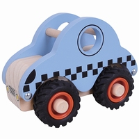 Taxi met zwart rubberen wielen