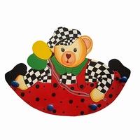 Kapstok beer rond rood; 4 pennen