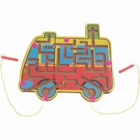 Magneet labyrint schoolbus; aanbieding ivm matige afwerking